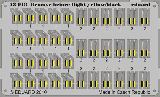 Remove Before Flight - yellow/black 1/72