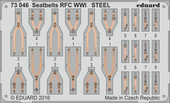 Seatbelts RFC WWI STEEL 1/72