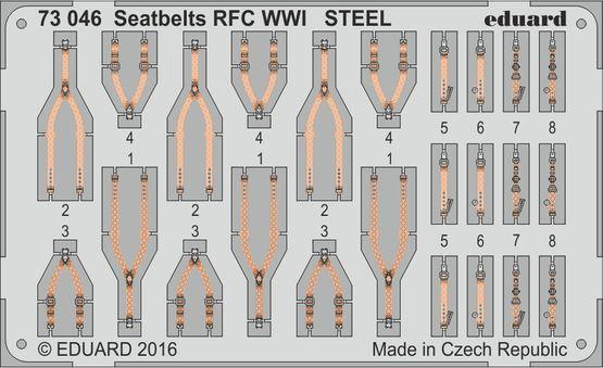 Seatbelts RFC WWI STEEL 1/72
