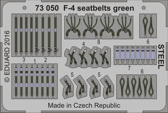 F-4 seatbelts green STEEL 1/72