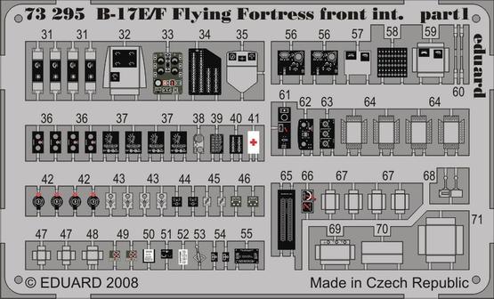 B-17E/F front interior S.A. 1/72  - 1