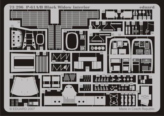 P-61A/B interior S.A. 1/72