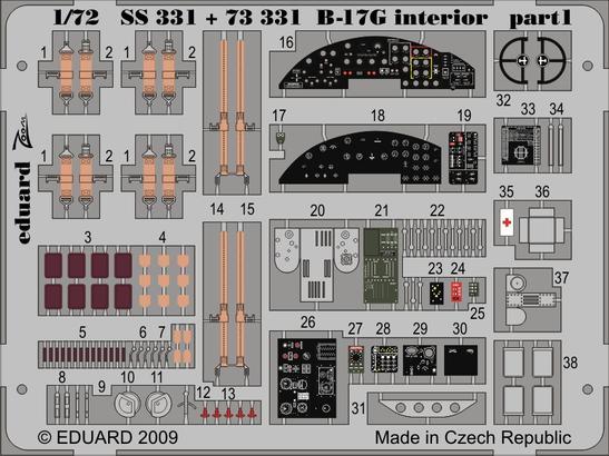 B-17G interior S.A. 1/72  - 1