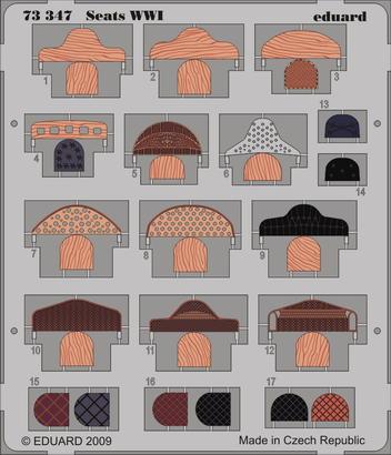 Seats WWI 1/72