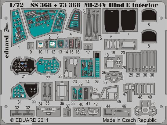 Mi-24V Hind E interior S.A. 1/72  - 1