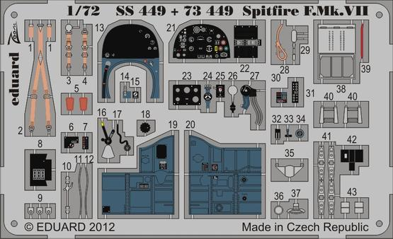 Spitfire F.Mk.VII 1/72  - 1