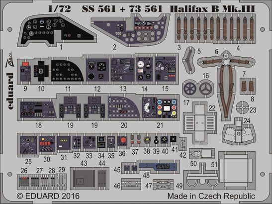 Halifax B Mk.III interior 1/72  - 1