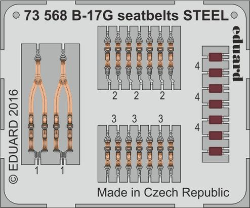 B-17G seatbelts STEEL 1/72