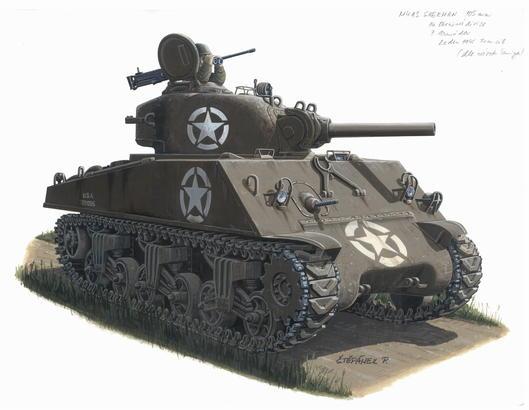 M-4A3 (105mm) Sherman 1/72
