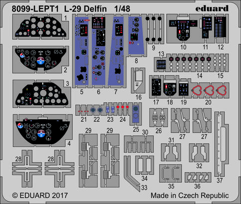L-29 Delfín PE-set 1/48  - 1