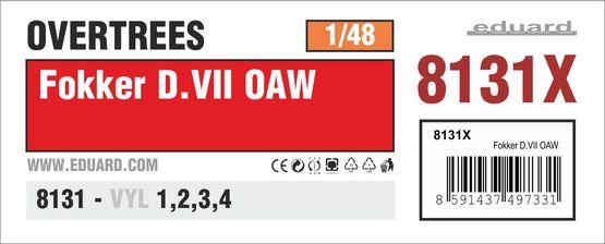 Fokker D.VII OAW OVERTREES 1/48 1/48