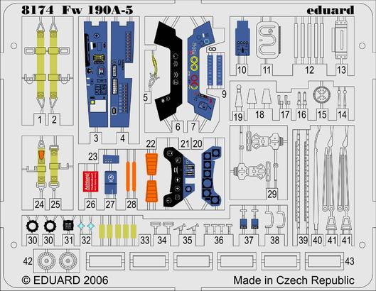 Fw 190A-5 PE-set 1/48