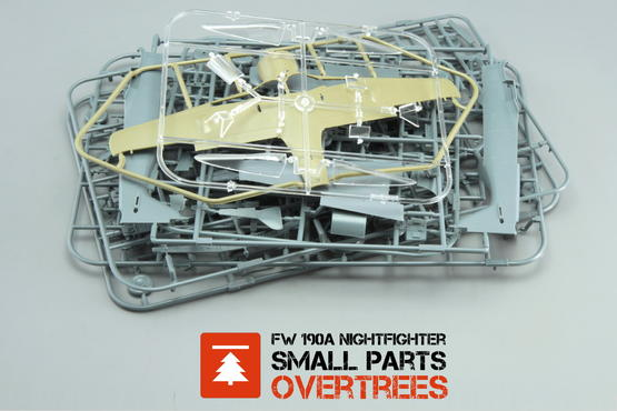 Fw 190A Nightfighter - small parts OVERTREES  1/48 1/48
