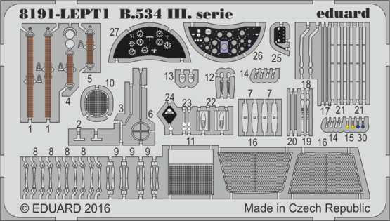 Avia B-534 III serie  PE-set 1/48