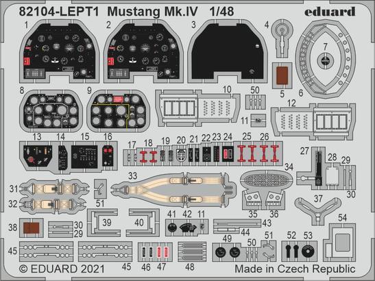 Mustang Mk.IV PE-set 1/48