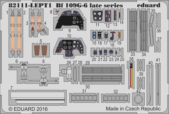 Bf 109G-6 late series PE-set 1/48