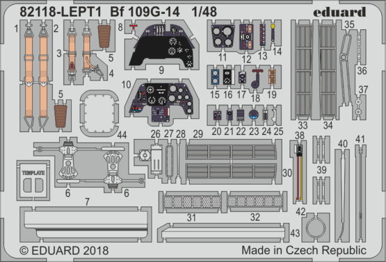 Bf 1096G-14 PE-set 1/48