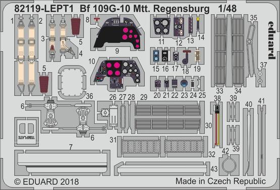 Bf 109G-10 Mtt Regensburg PE-set 1/48  - 1