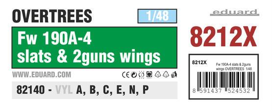 Fw 190A-4 slats & 2guns wings OVERTREES 1/48