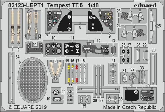 Tempest TT.5, фототравление 1/48
