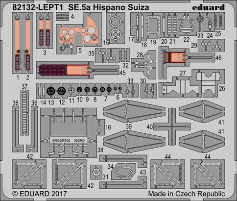 SE.5a Hispano Suiza  PE-set 1/48  - 1