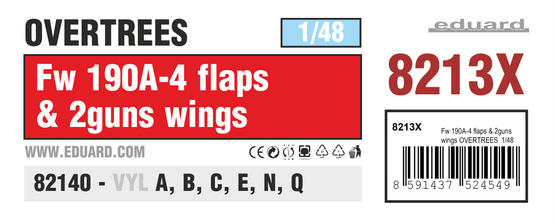 Fw 190A-4 flaps & 2guns wings OVERTREES 1/48