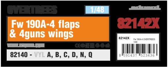 Fw 190A-4 закрылки и 4 крыльевых пулемёта OVERTREES 1/48