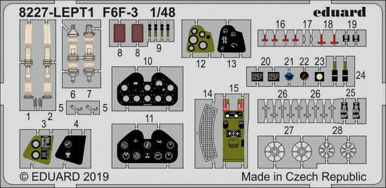 F6F-3 PE-set 1/48  - 1