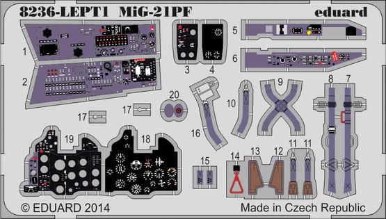 MiG-21PF PE-set 1/48  - 1