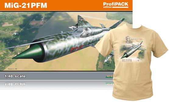 MiG-21PFM +T-Shirt (L) 1/48  - 1