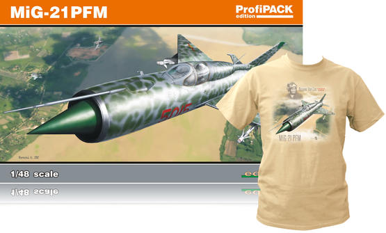 MiG-21PFM +T-Shirt (XL) 1/48  - 1