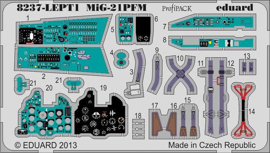 MiG-21PFM PE-set 1/48  - 1