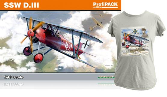 SSW D.III + T-shirt (XXL) 1/48  - 1