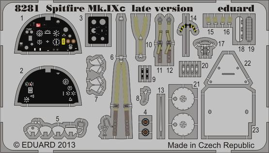 Spitfire Mk.IXc late version PE-set 1/48