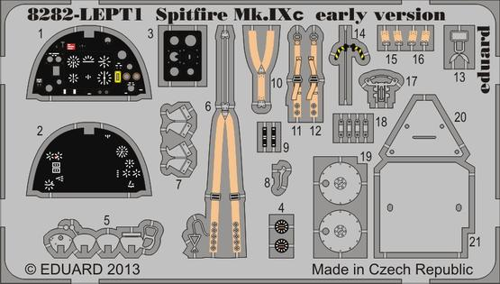 Spitfire Mk.IXc early version PE-set 1/48