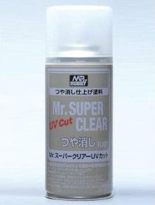 Mr.Super Clear UV Cut Flat Spray 170ml
