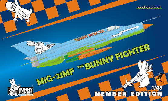 MiG-21MF Bunny Fighter Club + triko XL 1/48  - 1