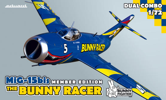 MiG-15bis Bunny Racer + triko M 1/72  - 1