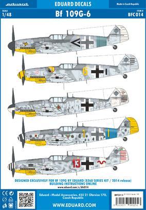 Bf 109G-6 decals 1/48  - 1