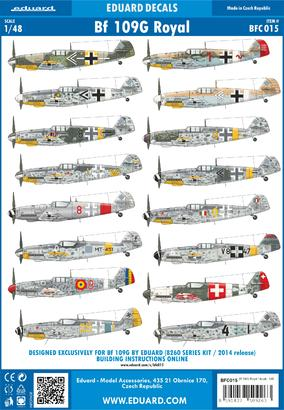 Bf 109G Royal decals 1/48  - 1