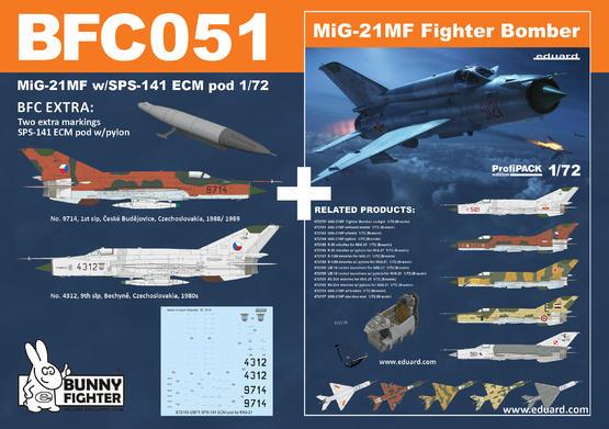 MiG-21MF w/SPS-141 ECM pod 1/72  - 1