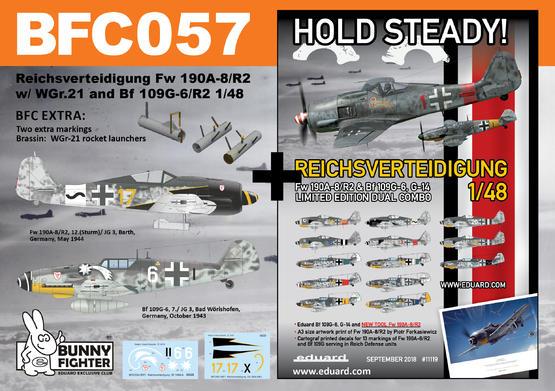 Reichsverteidigung Fw 190A-8/R2 & Bf 109G-6 1/48 kit 1/48  - 1