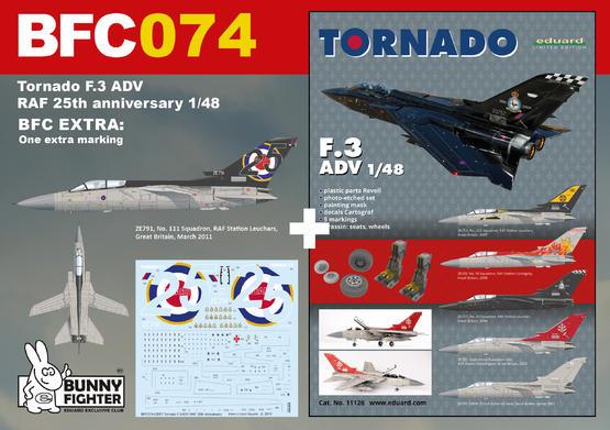 Tornado F.3 ADV RAF 25. výročí služby 1/48