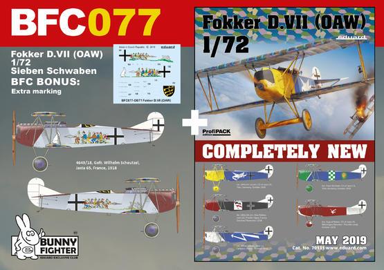 Fokker D.VII (OAW) Sieben Schwaben 1/72  - 1