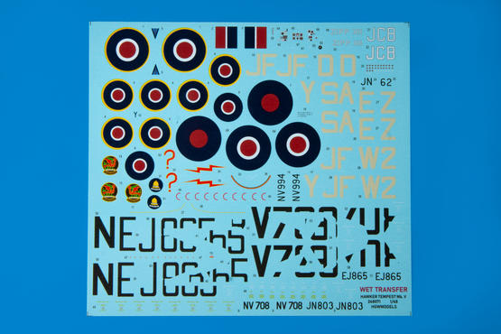Tempest Mk.V series 2 WET TRANSFER decals 1/48
