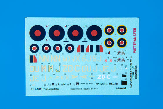 The Longest Day WET TRANSFER decals 1/72