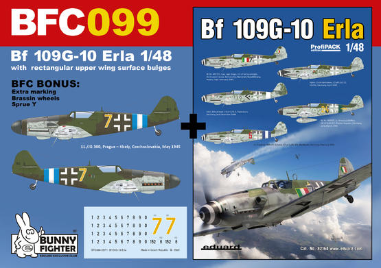 Bf 109G-10 Erla with rectangular upper wing surface bulges 1/48  - 1