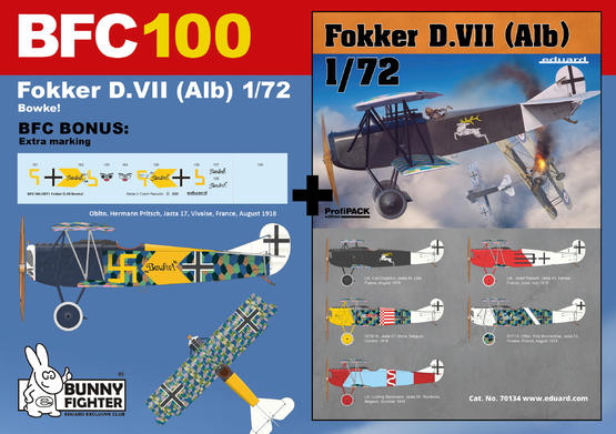 フォッカー D.VII Bowke! 1/72  - 1