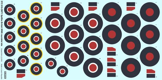 Spitfire - British WWII roundels late 1/72