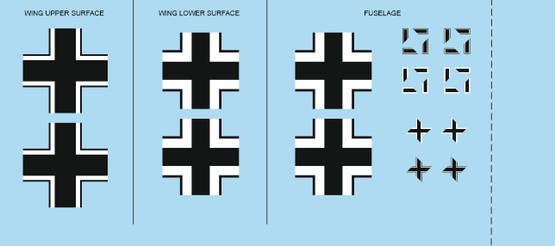 Bf 109F-2 national insignia 1/48